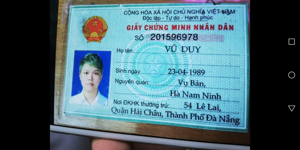 Vũ Duy Người Trốn nợ Tại Đà Nẵng
